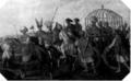 Баязид I в клетке после пленения Тамерланом в битве при Анкаре, 1402 год.png