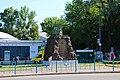 Київ, Пам'ятник робітникам заводу «Арсенал» (гармата), Арсенальна пл.jpg