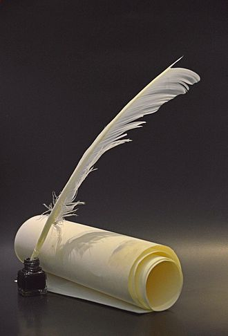 Parchment - Parchment with a quill and ink