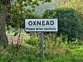 -2019-11-04 Place name sign for Oxnead, Norfolk.JPG