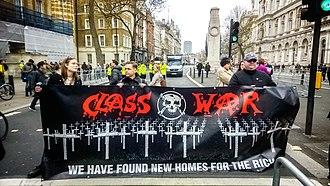 Class War - Class War protest at Downing Street, 2016