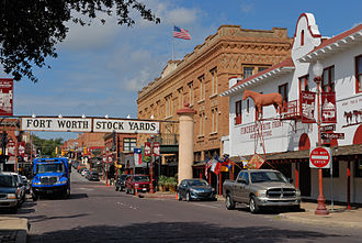 Fort Worth, Texas - Entrance to the Fort Worth Stockyards, 2012