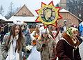 02014 Adventkirmes. Weihnachts Sternsinger in Sanok.JPG