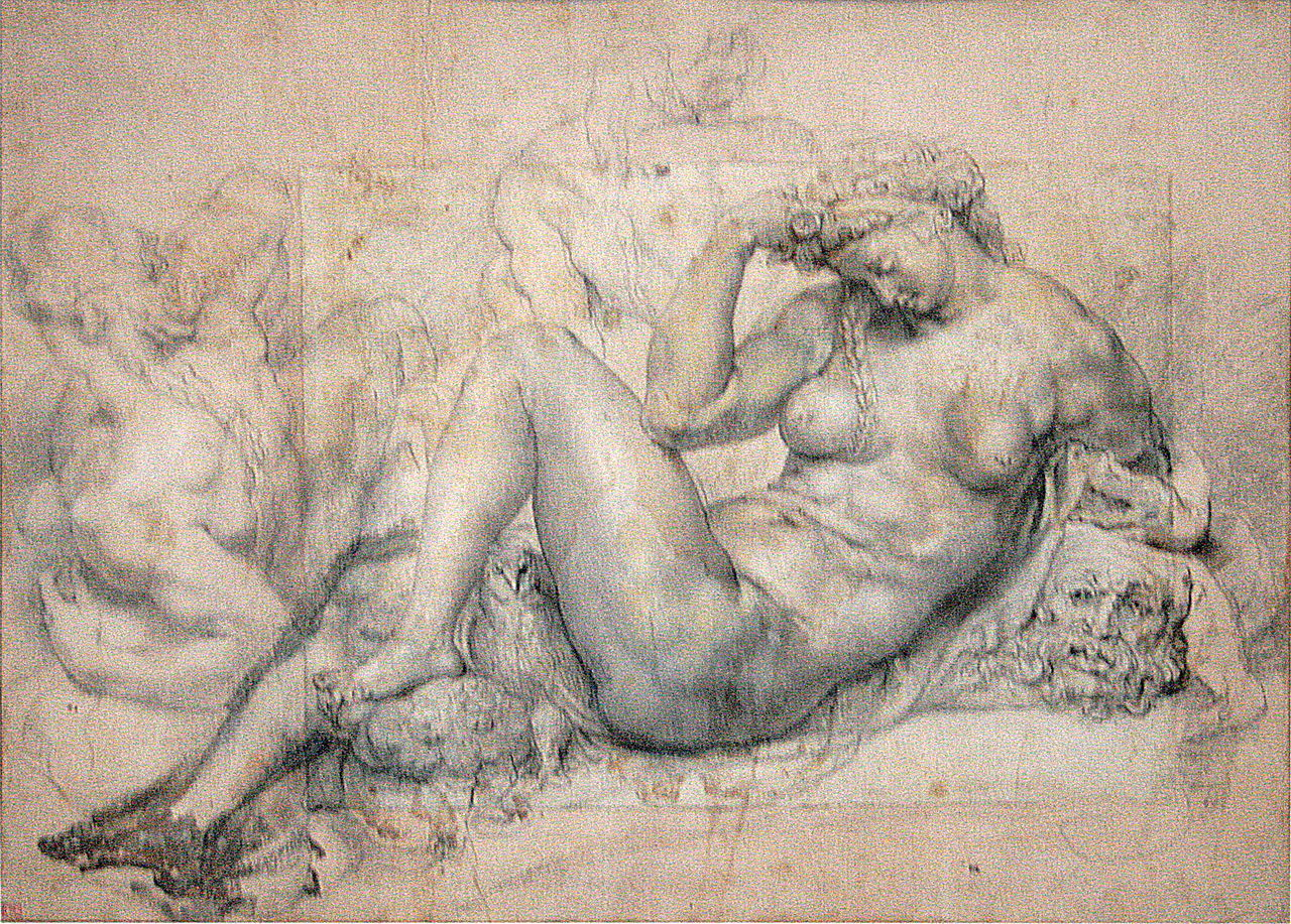 The Night, 1601–1603, black chalk and gouache on paper (after Michelangelo), Louvre-Lens
