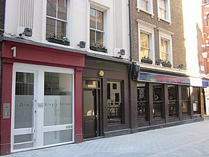 The Cat's Whisker - 1 Kingly St just after the new paving was laid in the summer of 2010