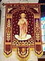 10 Milizac Eglise Bannière de procession du Sacré-Coeur de Jésus.JPG