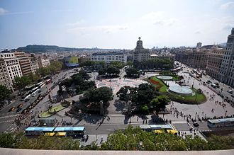 Plaça de Catalunya - The square in August 2014