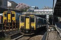 150258 and 150231 pass each other at Pontypridd Station (16926374747).jpg