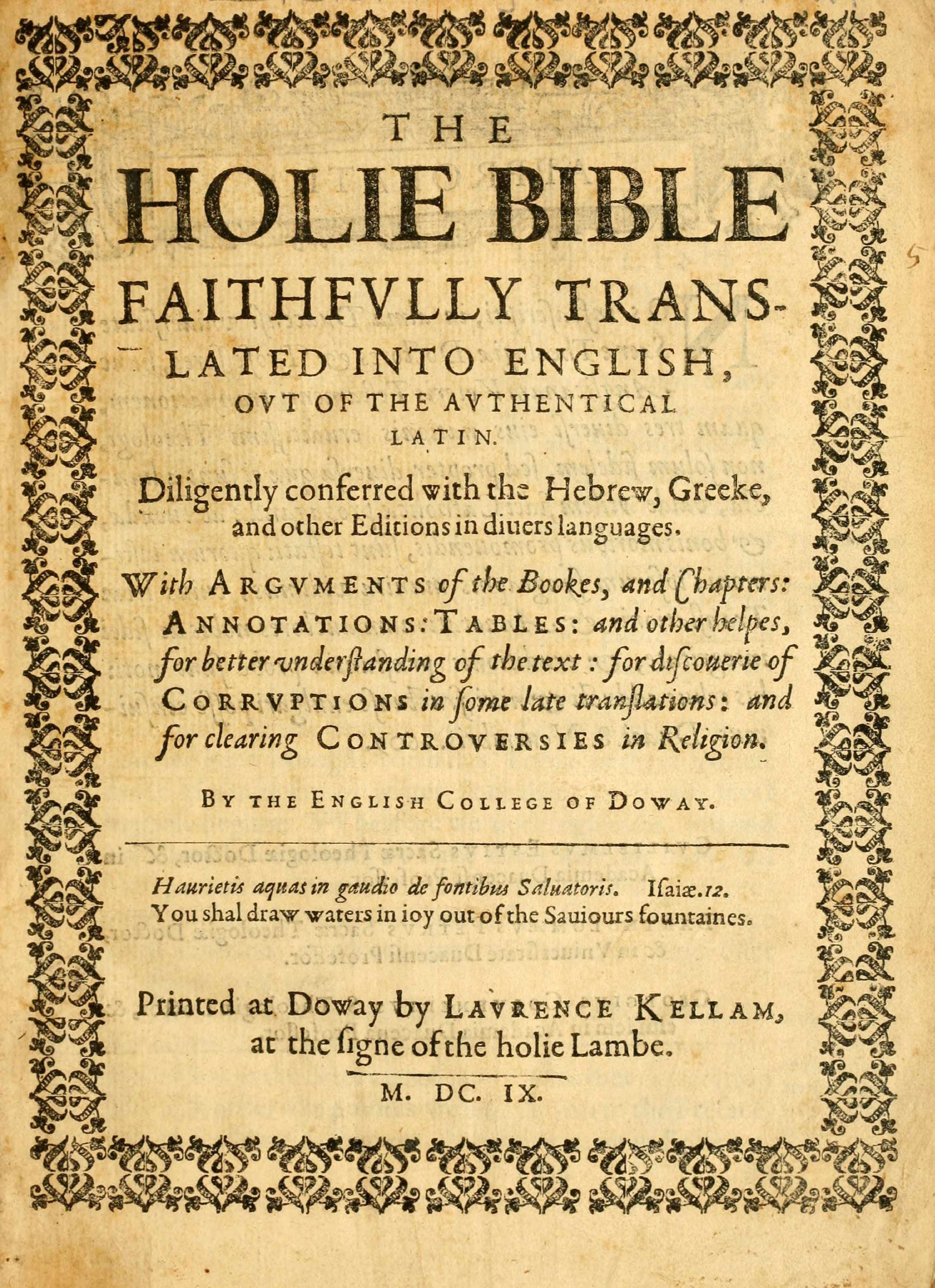 Douay–Rheims Bible