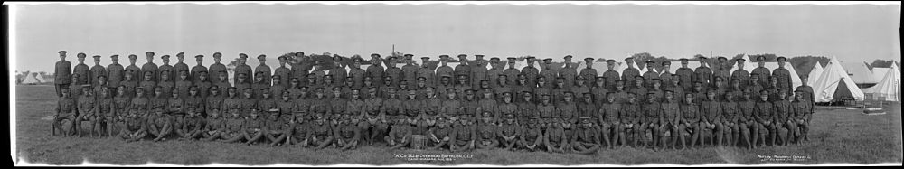 The 162nd Battalion in training at the new camp in Niagara-on-the-Lake