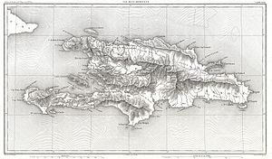 1859 Dufour Map of Hispaniola or Santo Domingo, West Indies (Haiti, Dominican Republic) - Geographicus - StDomingue-dufour-1859.jpg
