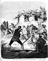 1865-10-08, El Museo Universal, El tiro de barra, Costumbres de Aragón, Dibujo de don Valeriano Bécquer.jpg
