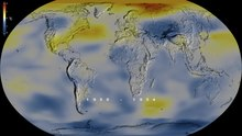 File:1880- Global surface temperature - heat map animation - NASA SVS.webm