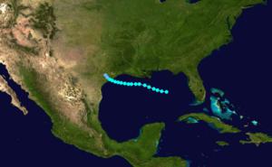 1880 Atlantic hurricane season - Image: 1880 Atlantic tropical storm 1 track