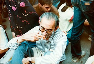 1991 protests in Belgrade - Renowned Serbian writer Borislav Pekić was one of many well-known Serbs at the protest