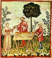 19-alimenti,vino bianco,Taccuino Sanitatis, Casanatense 4182.jpg