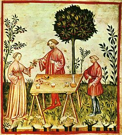 Il vino bianco, Tacuinum sanitatis casanatensis (XIV secolo)