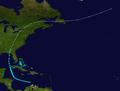 1901 Atlantic tropical storm 10 track.png