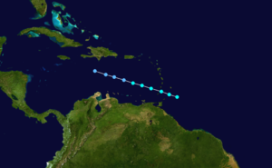 1905 Atlantic hurricane season - Image: 1905 Atlantic tropical storm 1 track