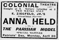 1908 ColonialTheatre BostonEveningTranscript 17April.png