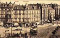 1910 circa Ansichtskarte Linden. Deisterstraße Bildseite Schwarzer Bär Straßenbahn Linie 2.jpg