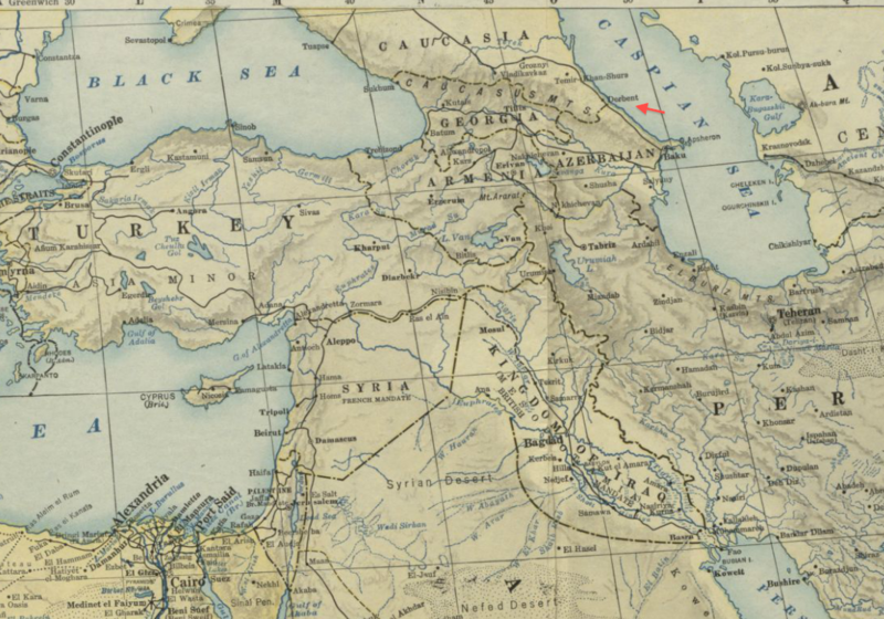 File:1922 Derbent detail Map of Africa and Adjoining Portions of Europe and Asia by US National Geographic Society BPL m0612013.png
