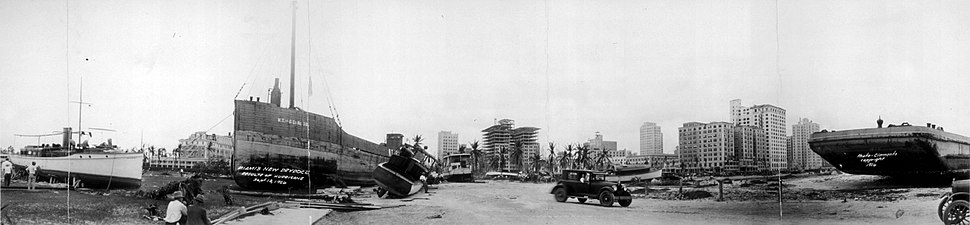 1926 Miami Hurricane damage