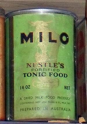 Milo (drink) - 1940s Milo tin.