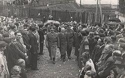 1943 год добровольцы дивизии в г санок