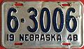 1948 Nebraska license plate.JPG