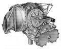 1963 A831 Chrysler engine front.png