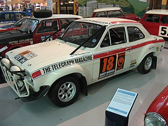1970 London to Mexico World Cup Rally - Mikkola's rally-winning Ford Escort.