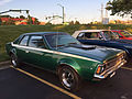 1971 AMC Hornet SC-360 compact muscle car in green at AMO 2015 meet 1of3.jpg