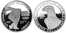 1983 Discus Thrower Proof Dollar