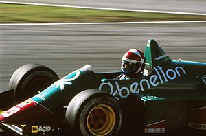 Eddie Cheever - Cheever during practice for the 1985 European Grand Prix