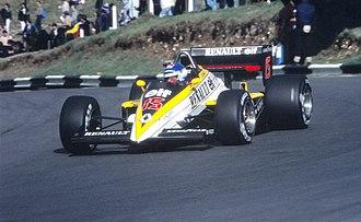 Patrick Tambay - Tambay during practice for the 1985 European Grand Prix