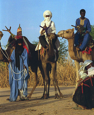 History of Niger - Tuareg men in Niger, 1997.