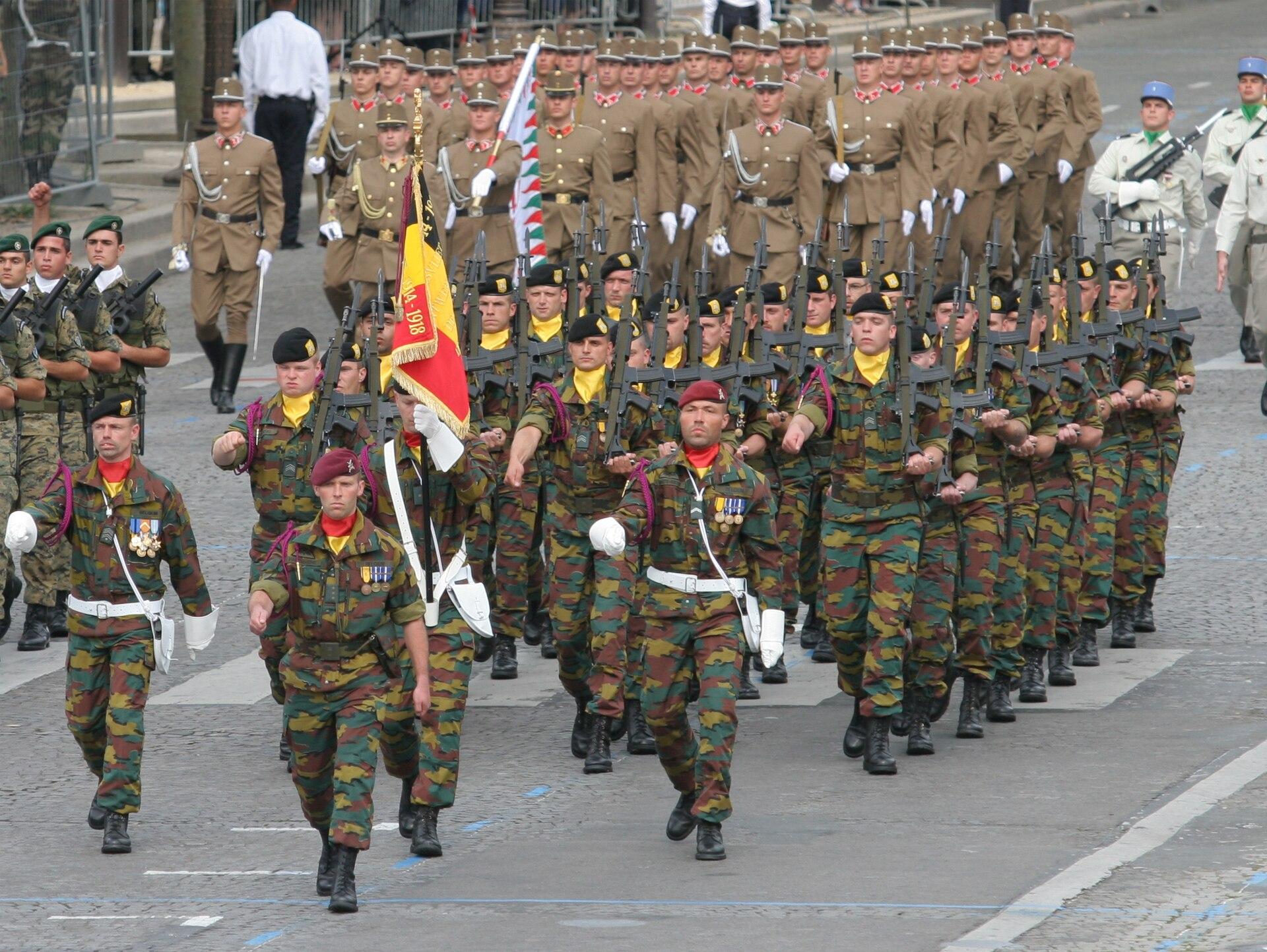 Belgiens försvarsmakt – Wikipedia