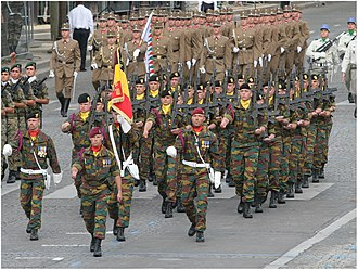 Belgian Land Component - A detachment of the 2nd/4th Regiment Mounted Rifles at the 2007 Bastille Day Military Parade.