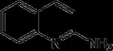 Strukturformel von 2-Aminochinolin