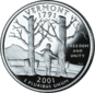 Vermont quarter dollar coin