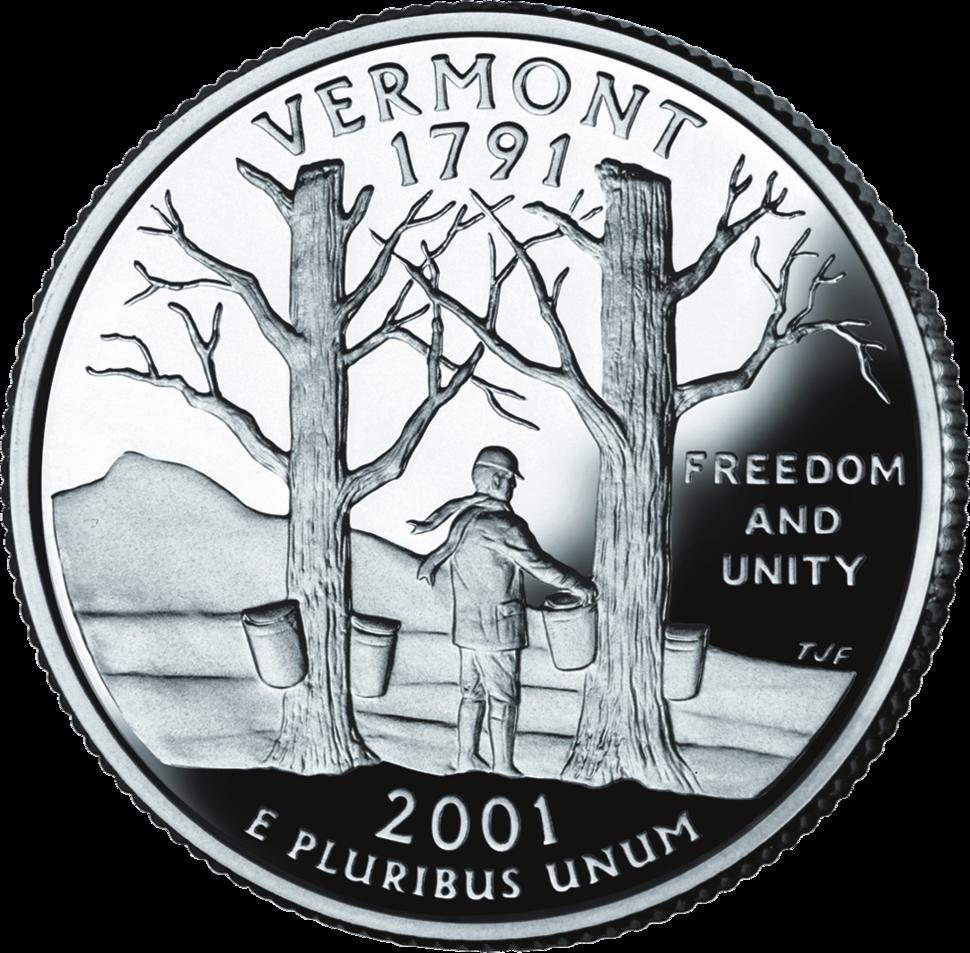 Vermont quarter dollar coin