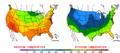 2002-09-23 Color Max-min Temperature Map NOAA.png