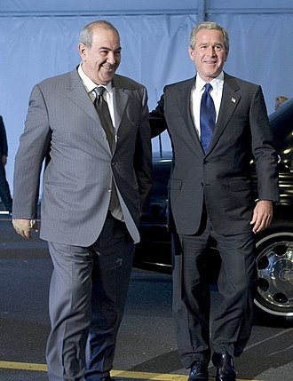 Ayad Allawi - Allawi meets with U.S. President George W. Bush in New York, 21 September 2004