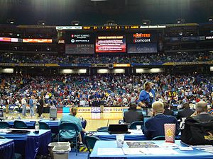 2008 SEC Men's Basketball Tournament - A hiatus in the Alabama vs. Mississippi State quarterfinal on March 14, 2008. The team returned to the court at 10:30 p.m. the same night, and Mississippi State defeated Alabama 69–67 in overtime.