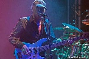 Billy Sheehan - Sheehan performing with Mike Portnoy, Derek Sherinian and Tony MacAlpine at De Boerderij, Zoetermeer, Netherlands (October 21, 2012)