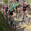 2012 Ronde van Vlaanderen, Thomas Voeckler, Fabian Cancellara & Peloton (7038278401).jpg