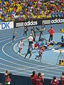 2013 IAAF World Championship in Moscow Relay 4x400 Men 2nd Heat.JPG