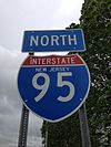 2014-05-16 15 58 16 Sign for Interstate 95 northbound on Interstate 95 in Ewing, New Jersey.JPG