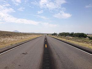 Sunnyside, Nevada - View south along SR 318 in Sunnyside